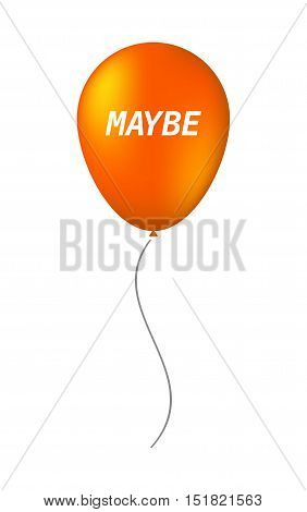Isolated Balloon With    The Text Maybe