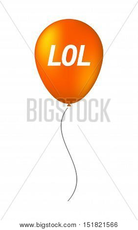 Isolated Balloon With    The Text Lol
