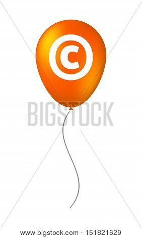 Isolated Balloon With    The  Copyright Sign