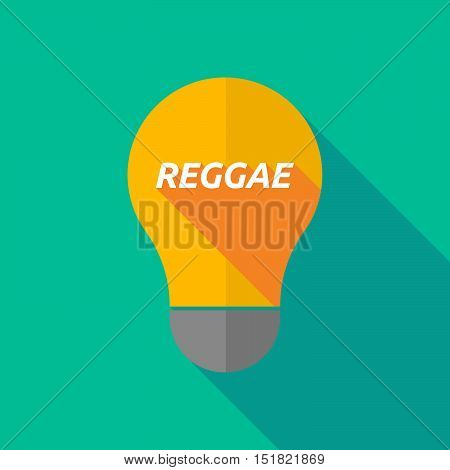 Long Shadow Light Bulb Icon With    The Text Reggae