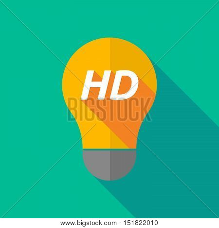 Long Shadow Light Bulb Icon With    The Text Hd