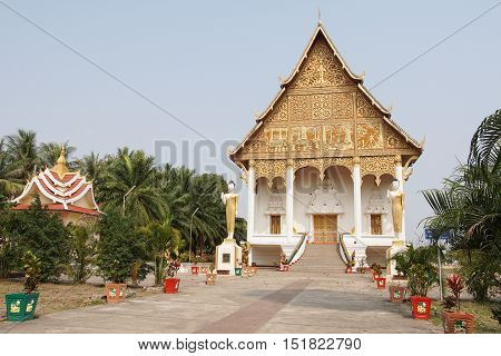 Wat That Luang, Vientiane, Laos, South East Asia