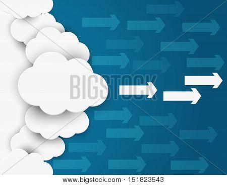 Cloud Network . Concept Business Illustration. Vector Flat