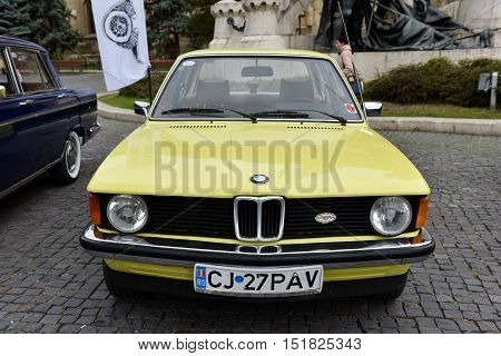 Yellow Bmw Vintage Car From Germany
