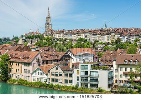 Bern Switzerland - May 26 2016: A cityscape of Bern medival city in Switzerland.