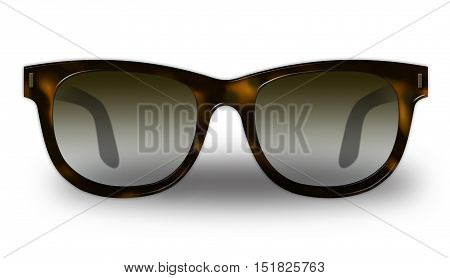 Modern sunglasses isolated on white background. Raster illustration