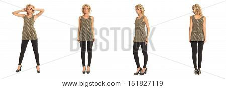 Full Length Portrait Of Beautiful Blonde In Tunic