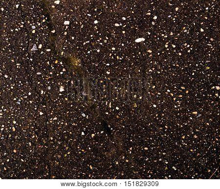 Asphalt, asphalt texture, scabrous asphalt background, asphalt pattern, cracked asphalt, grunge background, abstract, wet asphalt