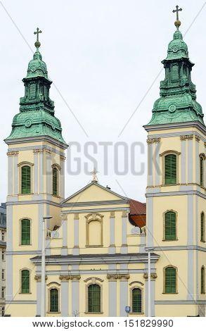 Inner-city Parish Church In Budapest, Hungary.