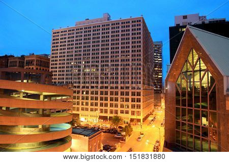 Saint Louis, MO, USA - April 29, 2016: Saint Louis is 19th largest urban area in USA.