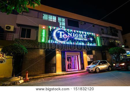 Labuan,Malaysia-Oct 15,2016:Labuan island is famous with its duty free especially alcohols.Main entertainment in Labuan is its night clubs & lounges,it is a favourite tourists attraction.