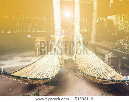 Hanging bench seat chair cradle hammock with warm filter
