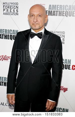 Ben Kingsley at the 30th Annual American Cinematheque Awards Gala held at the Beverly Hilton Hotel in Beverly Hills, USA on October 14, 2016.