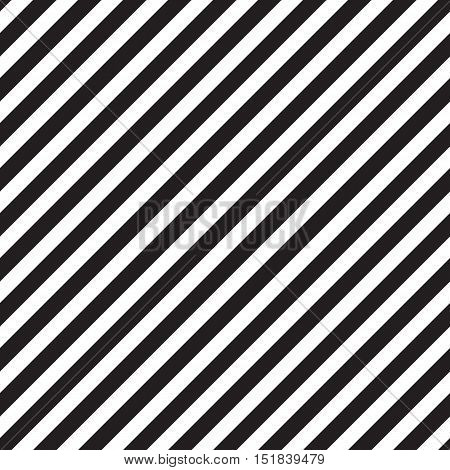 Diagonal stripes pattern. Classic black and white background