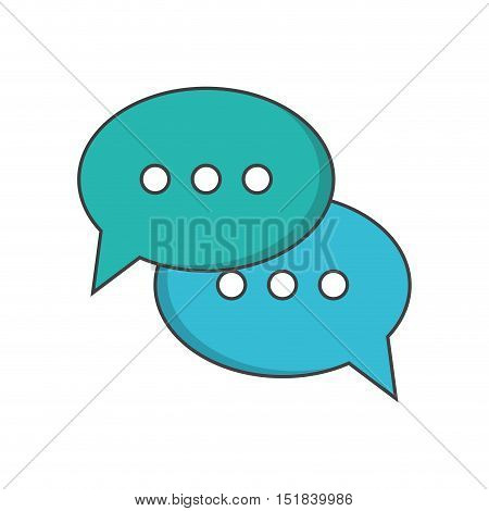 Bubble con. communication message discussion and conversation theme. Isolated design. Vector illustration