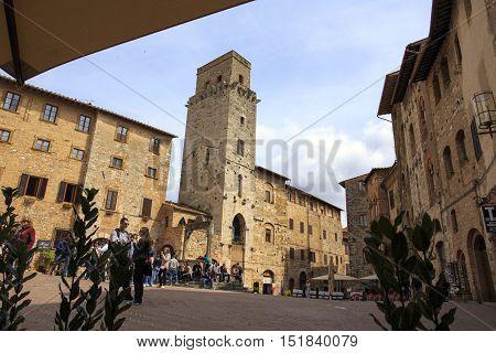 Historic Building In San Gimignano