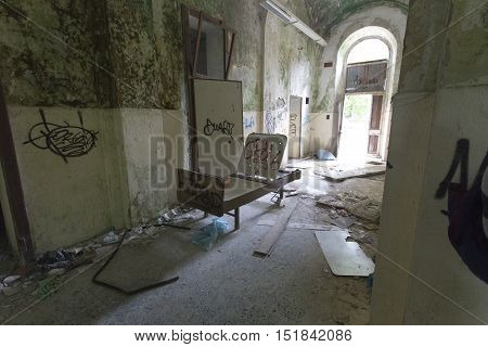 Abandoned Hospital Building Called Mombello.
