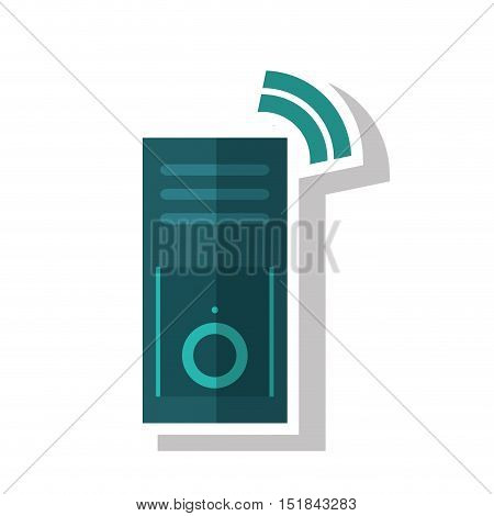 cpu machine icon. Device gadget and technology theme. Isolated design. Vector illustration