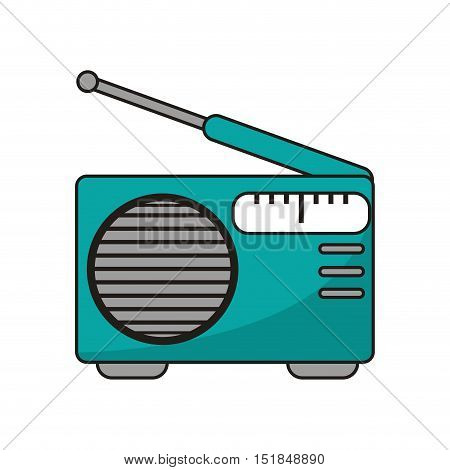 Radio device icon. Music sound musical technology communication and media theme. Isolated design. Vector illustration