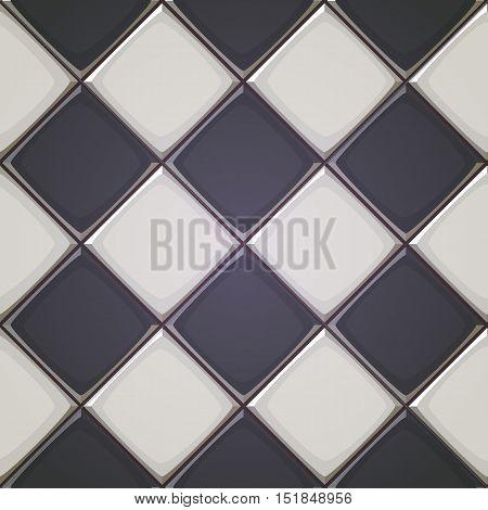 Vector illustration of vertical square ceramic tiles.