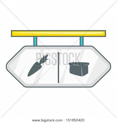 Pointer shop icon. Flat illustration of pointer shop vector icon for web