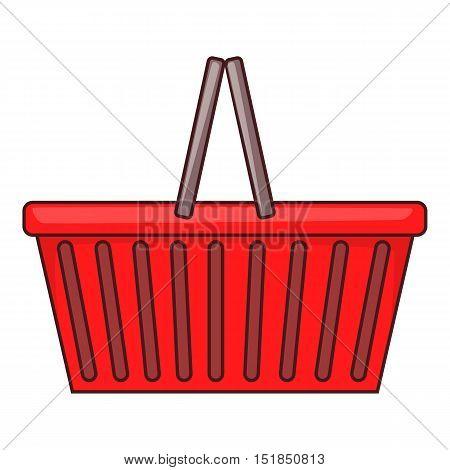 Shopping basket icon. Flat illustration of shopping basket vector icon for web