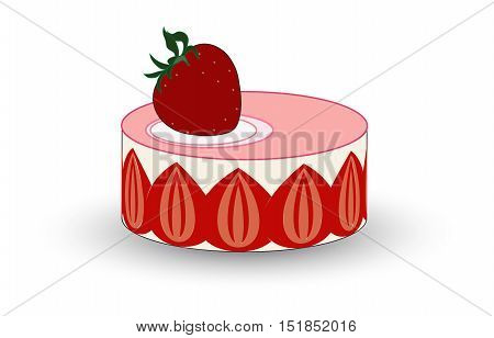 An incredibly pretty French cake filled with delicious strawberries and creme