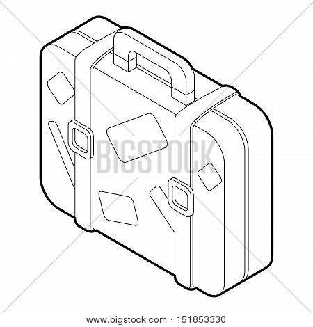 Travel suitcase icon. Isometric 3d illustration of travel suitcase vector icon for web