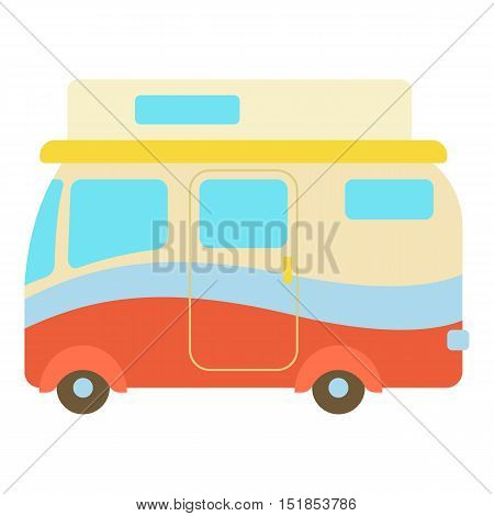 Camper van icon. Cartoon illustration of camper van vector icon for web