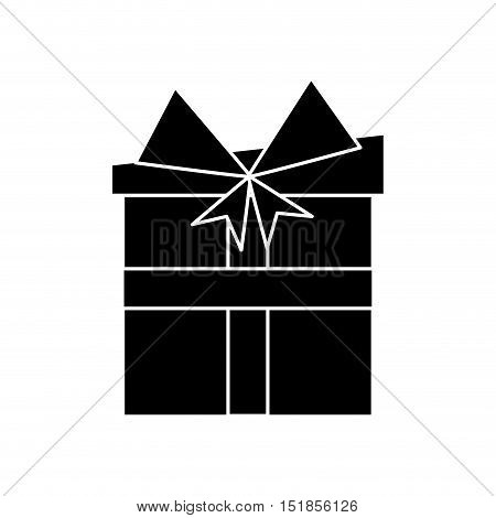 Gift with bowtie icon. Merry christmas season celebration and decoration theme. Isolated design. Vector illustration