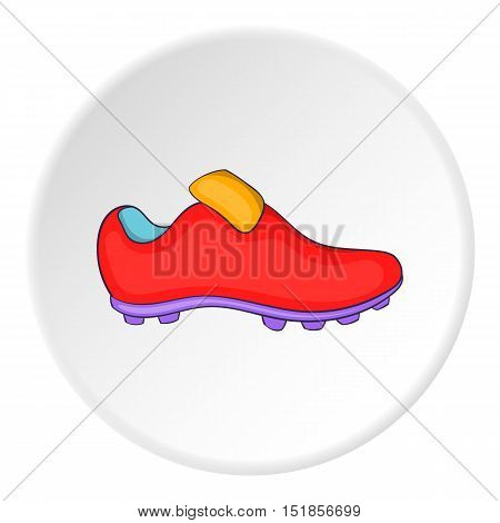 Soccer shoe icon. Cartoon illustration of soccer shoe vector icon for web
