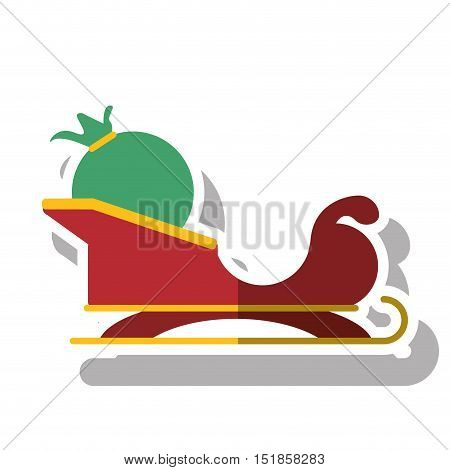 Sledge icon. Merry christmas season celebration and decoration theme. Isolated design. Vector illustration