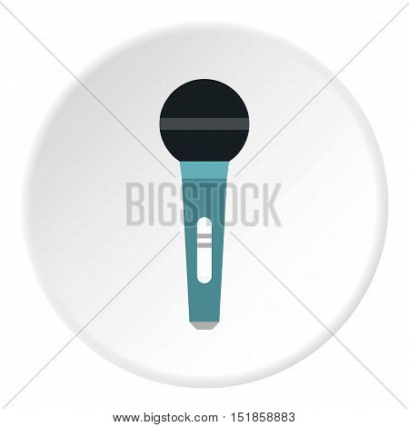 Microphone icon. Flat illustration of microphone vector icon for web design