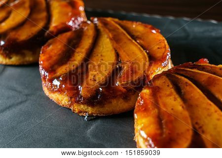 Tarte Tatin with pears