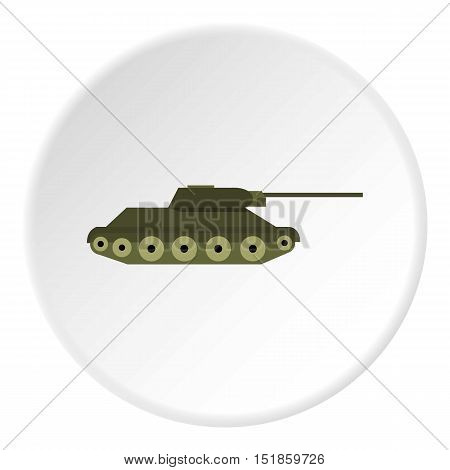 Tank icon. Flat illustration of tank vector icon for web design