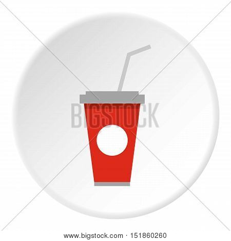 Beverage cup icon. Flat illustration of beverage cup vector icon for web design