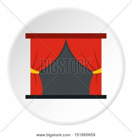 Stage curtains icon. Flat illustration of curtain vector icon for web design