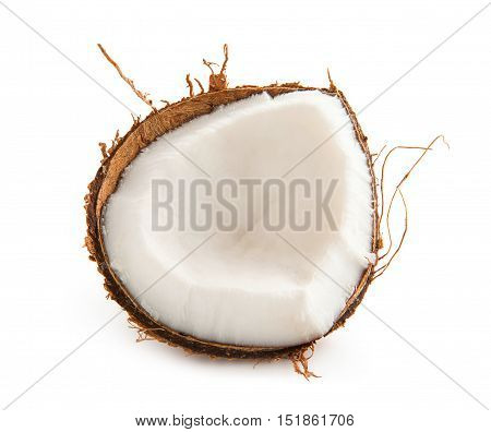 Coconut. Shard coconut isolated on white background