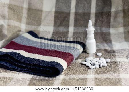 viral disease drops scarf pills cold virus