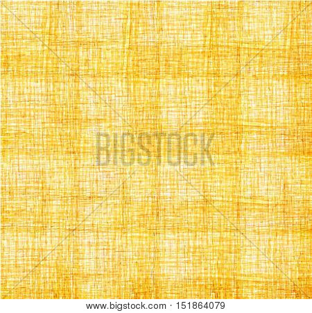 Yellow background of intersecting lines. Yellow gold lattice vector background