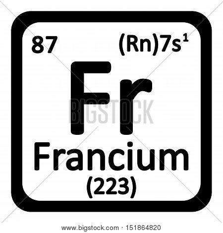 Periodic table element polonium icon on white background. Vector illustration.
