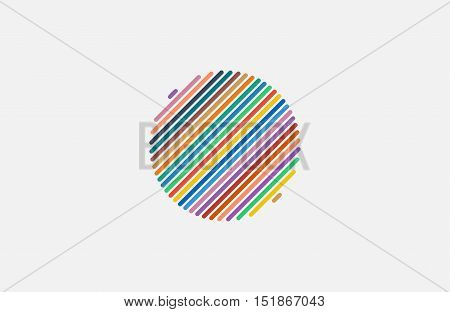Circle ring logo design. Abstract flow logo template. Round ring shape and infinity loop symbol, technology icon, thin line logo.