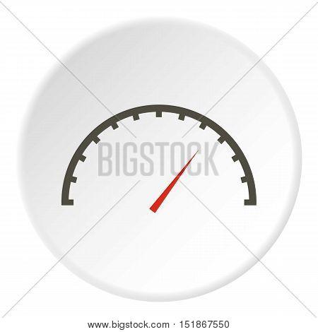 Factory speedometer icon. Flat illustration of factory speedometer vector icon for web