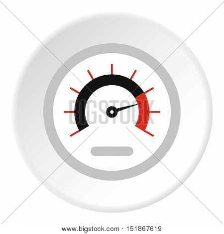 Exclusive speedometer icon. Flat illustration of exclusive speedometer vector icon for web