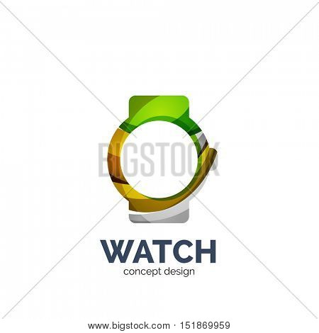 watch logo template, elegant geometric design