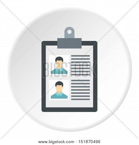 Summary in folder icon. Flat illustration of summary in folder vector icon for web