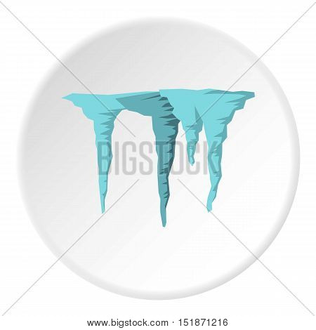 Icicles icon. Flat illustration of icicles vector icon for web