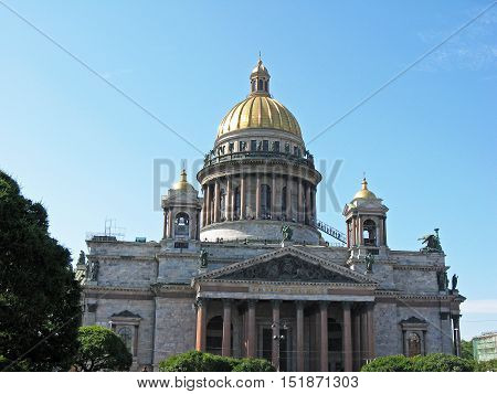 St. Isaac's Cathedral. Landmark. Tourist attraction. Saint Petersburg, Russia.