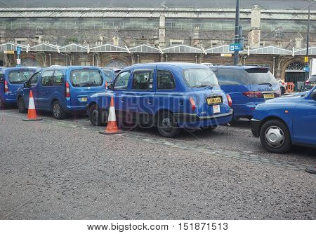 Taxi Cabs At Temple Meads Station In Bristol