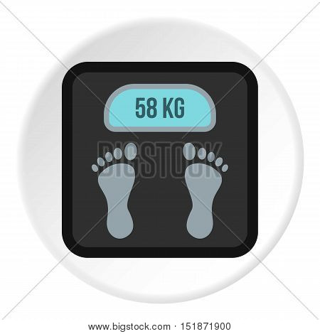Electronic scale icon. Flat illustration of electronic scale vector icon for web
